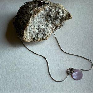 5/$25 Lia Sophia Silver Tone Necklace